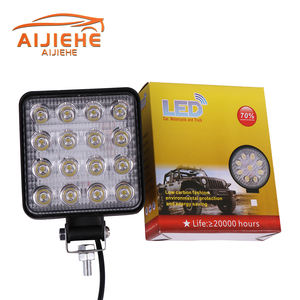 wholesale 4inch LED fog light 6000K 12V 24V 48w square Car led work light for driving trucks Boats, tractors, Off-road lights 4x