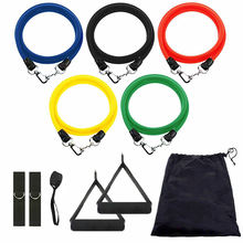 Straps Ankle Fitness Handles Training Exercise 11 Pcs Latex Sports Resistance Tube Bands Set