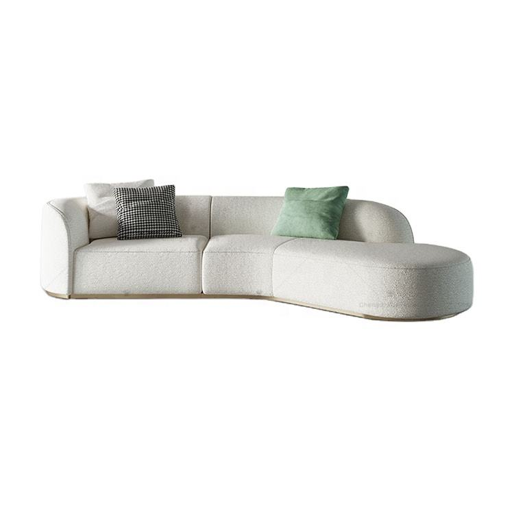 foshan city furniture Italy couch living room fabric sofa cream color leather sofa furniture