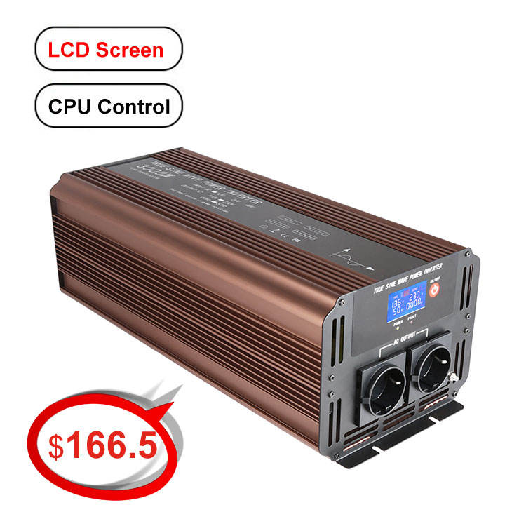 CPU soft start Reine sinus welle power inverter DC 12v 24v 48v 72 volt AC 110v 220v 230v 240v 300watt zu 3000watt für wahl