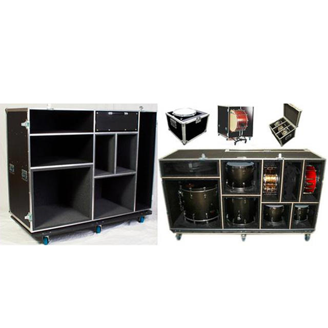 Grande Caso Hardware Tamburo Musicale attrezzature Flight Cases/Drum Caso Con Schiuma EVA