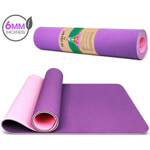 Harbour Eco Friendly Anti Slip Custom Logo Pilates TPE Yoga Mat with Carry Strap