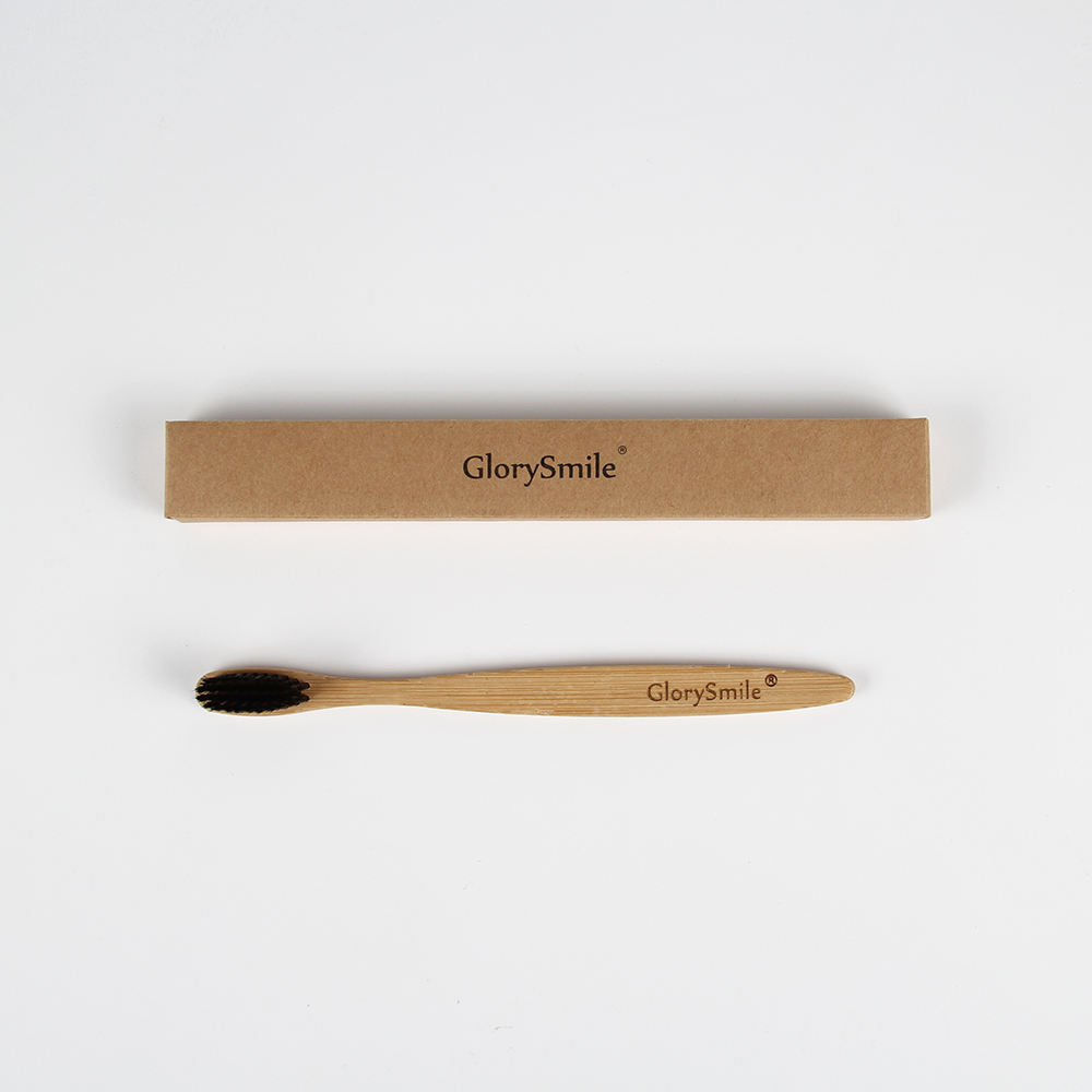 Wholesale Custom Cheap Bamboo Toothbrush with Kraft Box
