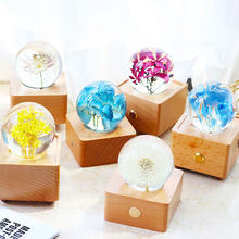 luxury premium customized personalized logo design Real Flower led Night light 2020 Christmas promotion gifts items