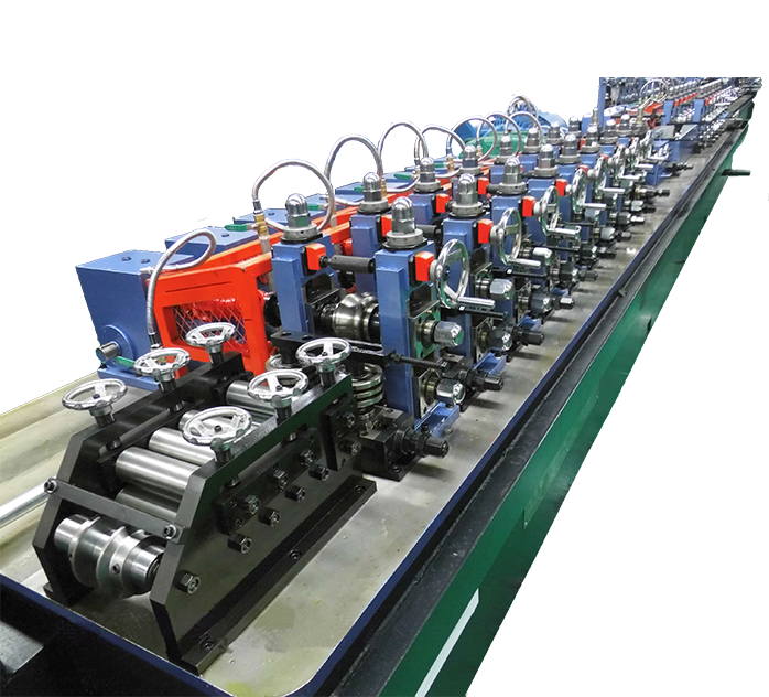 Pipe making machinery with flying saw carbon steel hollow pipe line