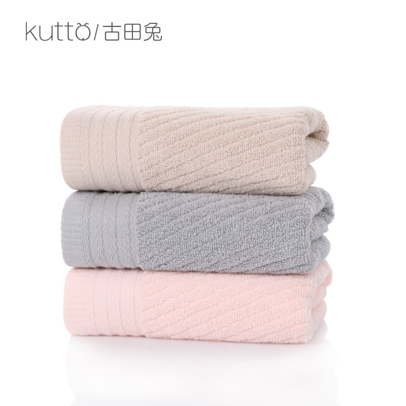 towel for hair Simple twill satin trimmed towel