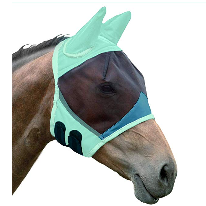 High Quality Equine Wholesale Pvc Horse With Fly Mask/Horse Head Mask