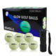 Glow Golf Balls luminous for Night Sports Fluorescent in the Dark 6pcs /packs with Torch best gifts