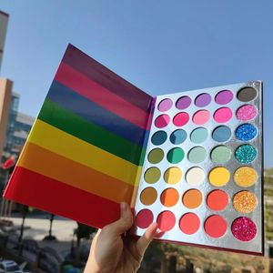 Cosmetics Beauty Make Own Brand Rainbow Eye Shadow Cardboard Eye Shadow Palette Private Label Long Lasting 18 Colors