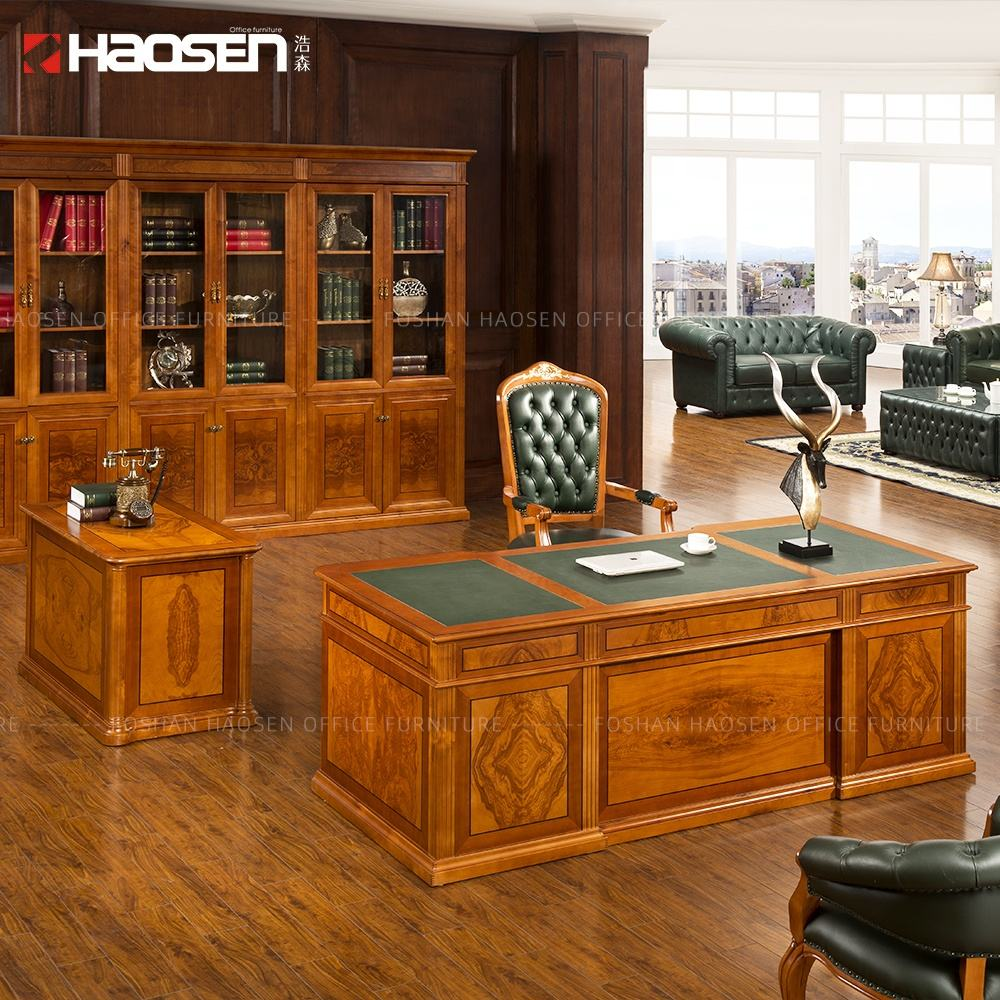 china Business New design sale high gloss wooden CEO executive luxury office desks classic office furniture (0806)