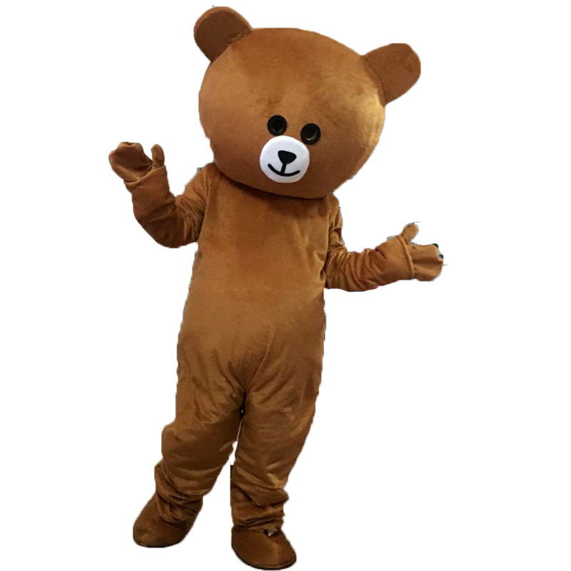 Packaging Customization [ Costume ] Adult Costume Unisex Advertising Network Red Bear Doll Wear Brown Bear Cartoon Costume Coney Rabbit Cosplay Performance Props