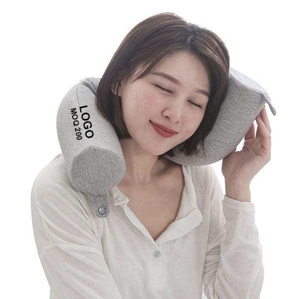 2020 wholesale adjustable bendable twist memory foam travel neck pillow for Neck, Chin, Lumbar and Leg Support