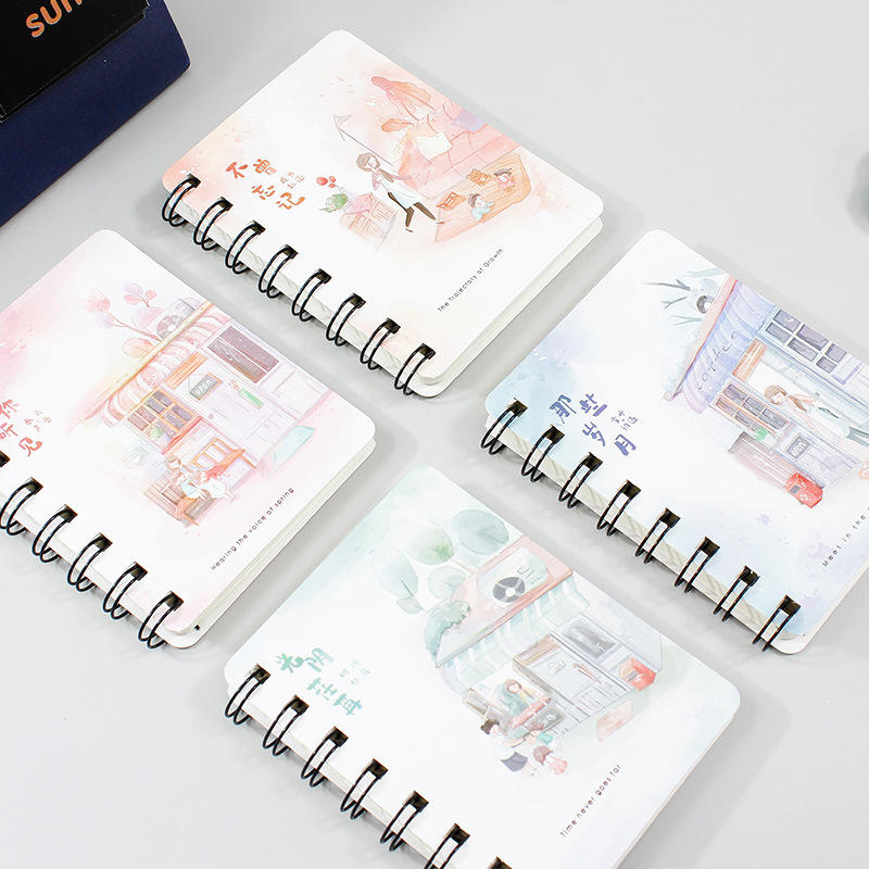 Wholesale custom print kawaii diary classmate notebooks office school students kids kawaii lined notepad