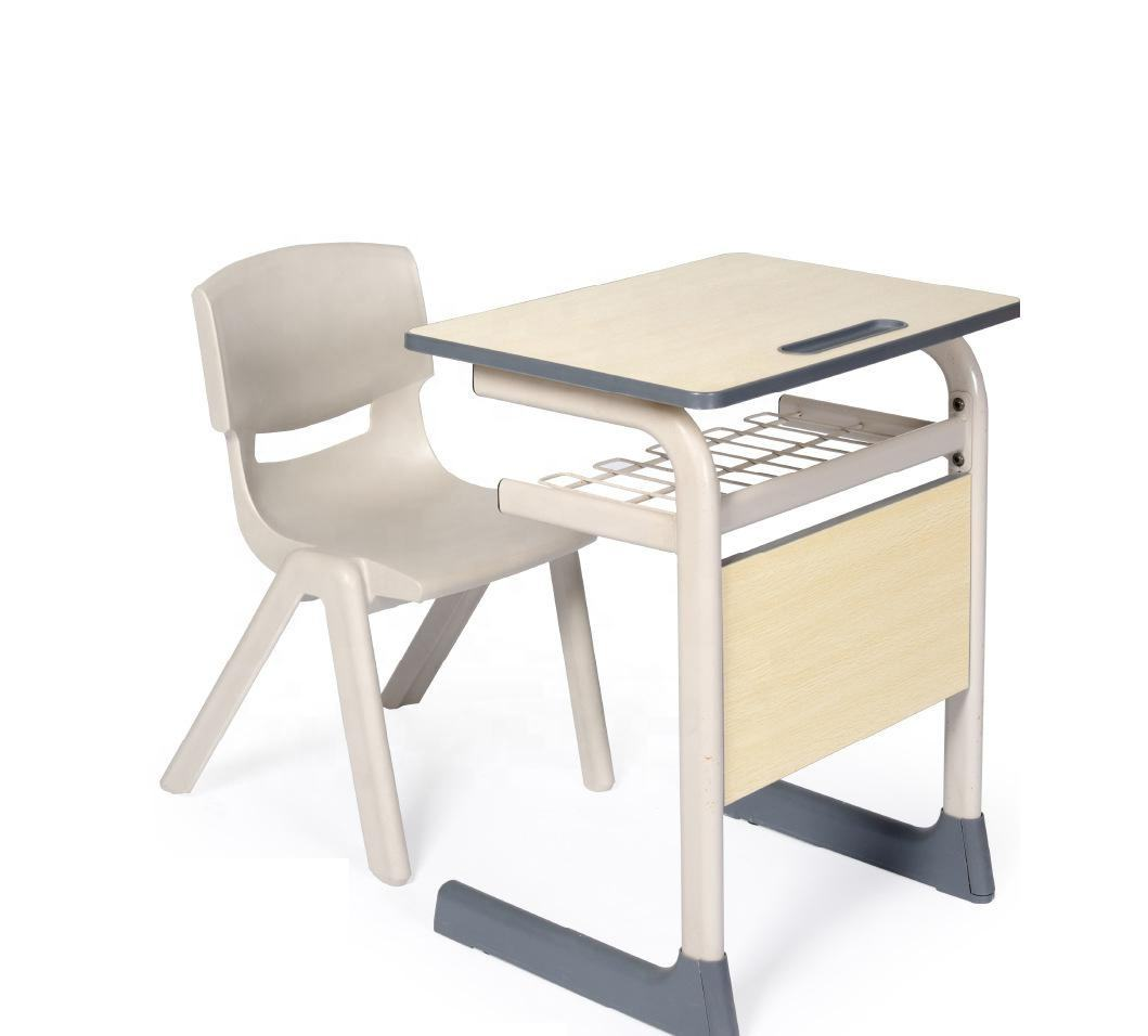 plastic PP school chairs steel wooden plastic school sets low price comfortable chair school Height adjustable