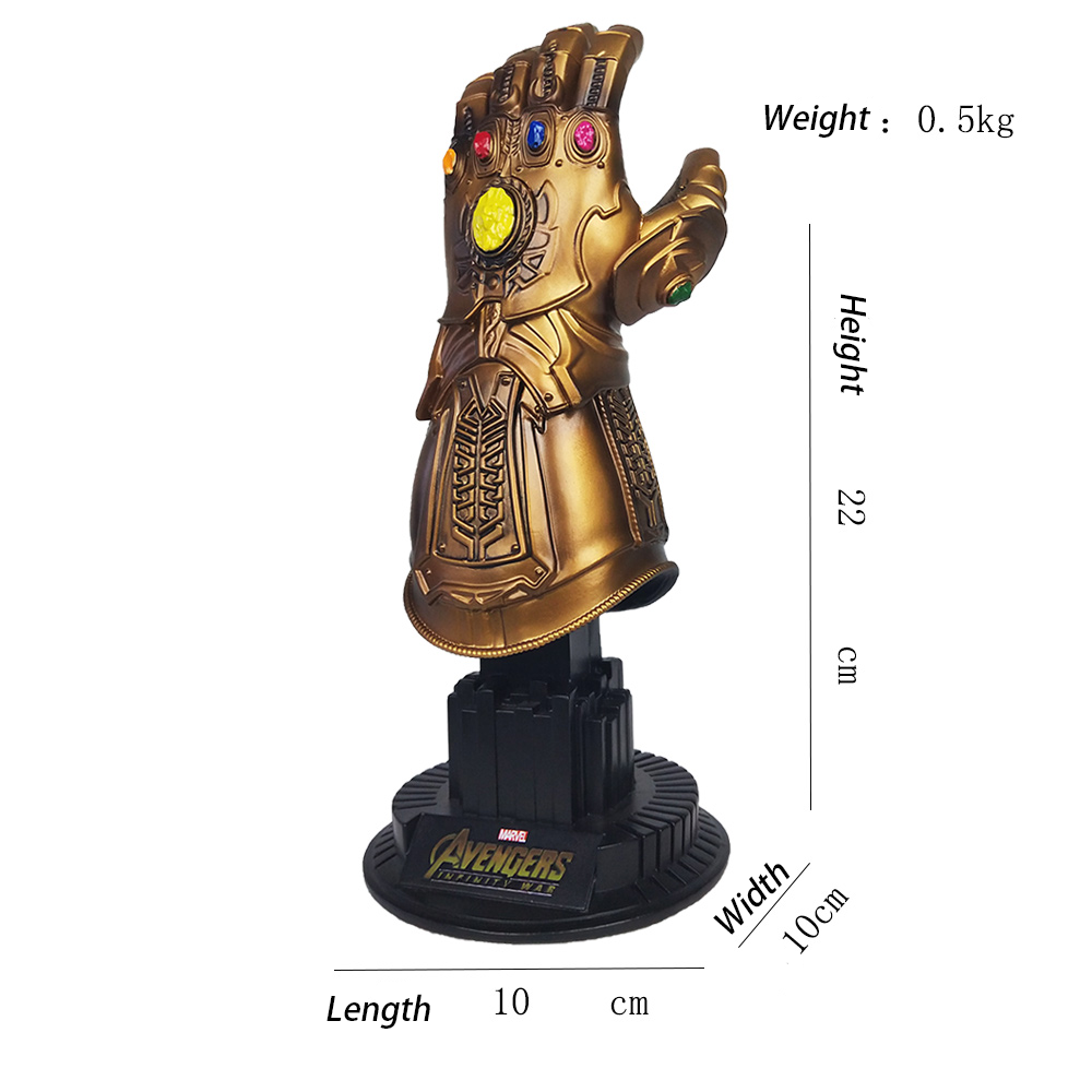 Marvel Thanos Golden Infinity Gauntlet Hars Standbeeld Gk Model Collectible Action Figure