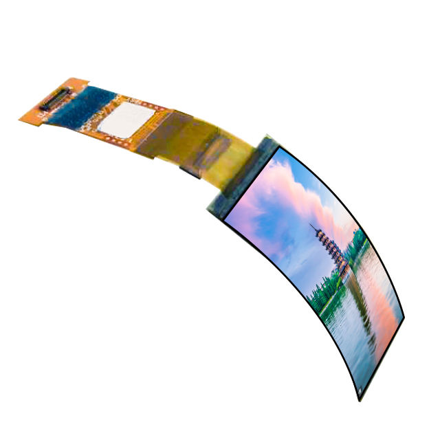 Factory supply 1.5inch flexible amoled display 120x240 flexibilty oled ips panel mipi interface flexibly lcd screen for watch