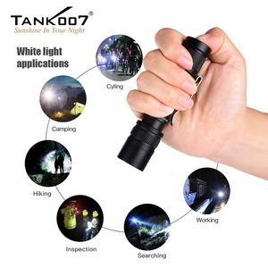 Tank007 2 in 1 aluminum led torch 365nm uv flashlight