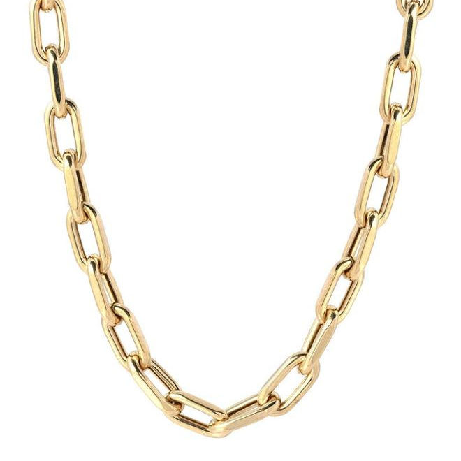 2020 New Stainless Steel Design Men Women's Chain Necklace Gold Plated Large Anch Chain Necklace Jewelry
