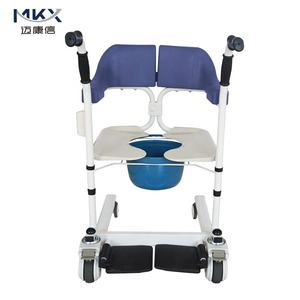 Multifunctional Medical Wheelchair with Back Opening Convenient for Patient Transfer, Shower and Commode