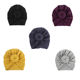 2020 Baby Turban Hat Solid Color Knot India Pullover Cap Baby , Boy Girl Cotton Beanie Hat