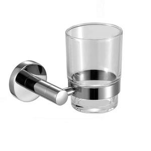 Everstrong stainless steel bathroom accessories toothbrush holder ST-V0309 single glass tumbler cup holder