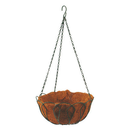 Ali baba online shopping website round metal hanging flower pots for balcony in india