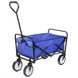 Outdoor Folding Wagon 4 Räder Faltbare Utility Warenkorb Tragbare Strand Trolley XH1001 camp wagon