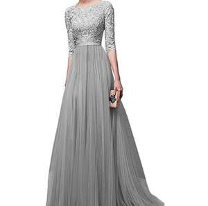 Europe and the United States autumn and winter new evening dress chiffon evening dress long skirt factory wholesale