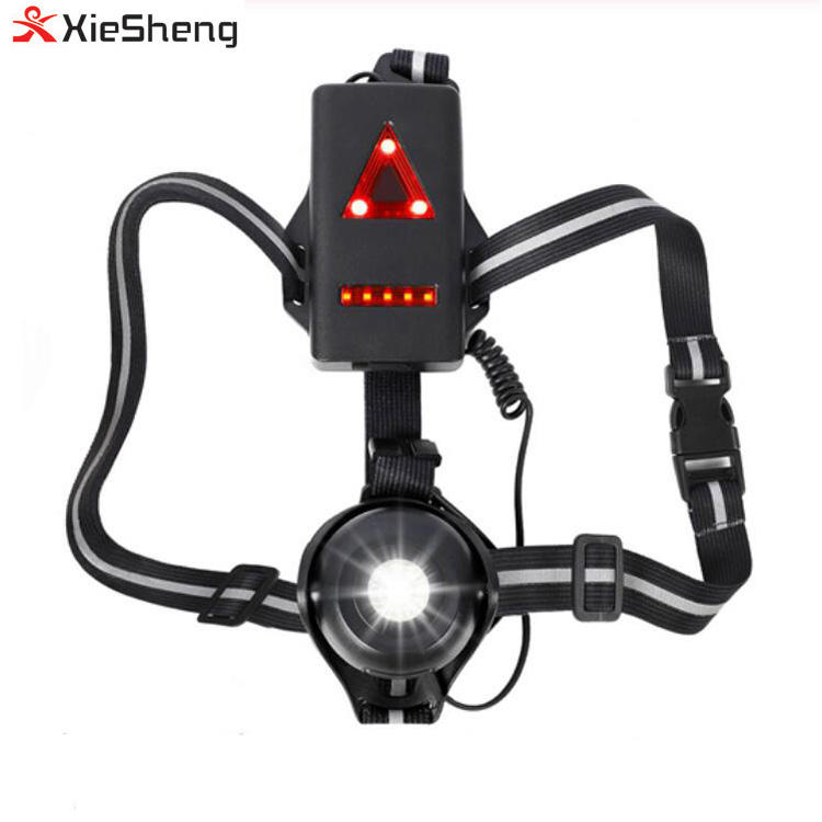 Bicycle Light USB Charge Night Running Flashlight LED Chest Lamp Outdoor Sport Jogging Cycling Safety Warning Lights