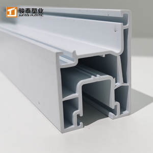 Extrusion high quality white upvc window plastic decorated profile factory