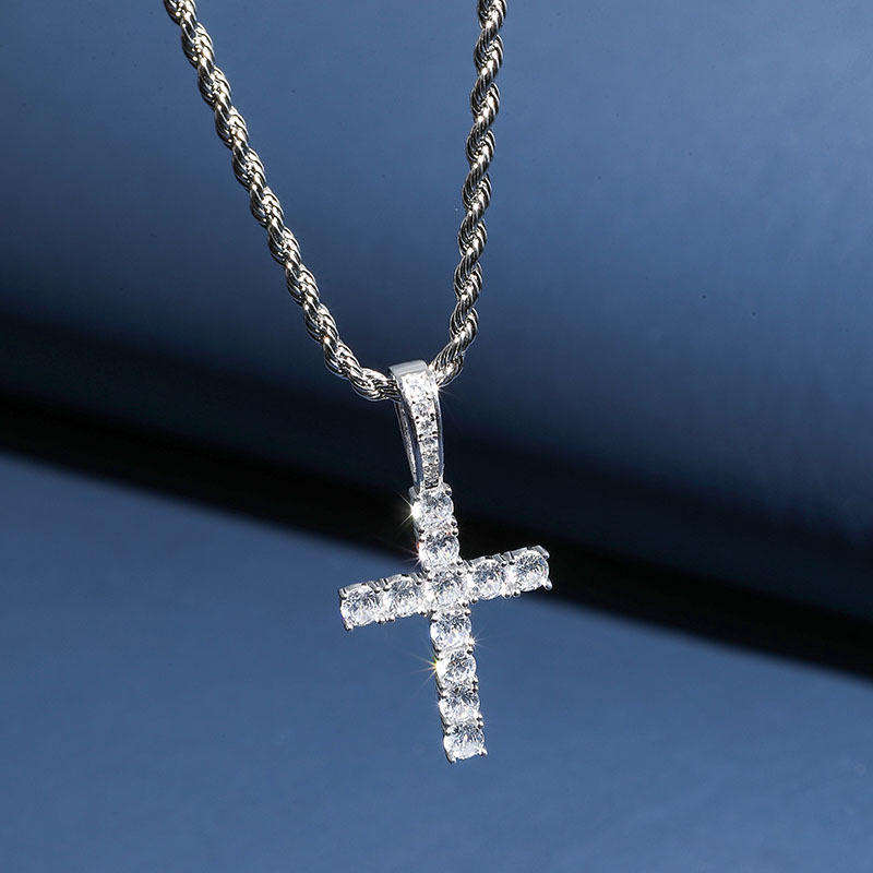 Ice on Fire Jewelry 10k White Gold Angel Wing with Micro Pave Cubic Zirconia Stones Religious Pendant Necklace