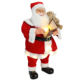 80cm Animated Christmas Writing Santa Claus with Lighting Musical Ornament Decoration Traditional Holiday Figurine Collection