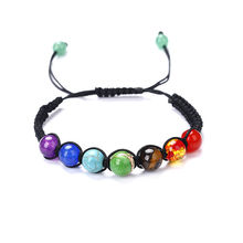 Rainbow 7 Chakra Stones Bracelet Natural Stone Beaded Bracelet Women Crystal Bracelet Men's Healing Reiki Jewelry Accessories