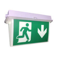 Light Red Hanging Board Rechargeable Led Emergency Pendant Exit Sign