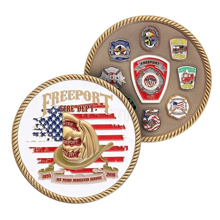 Factory custom metal USA souvenir Army military challenge brass coins