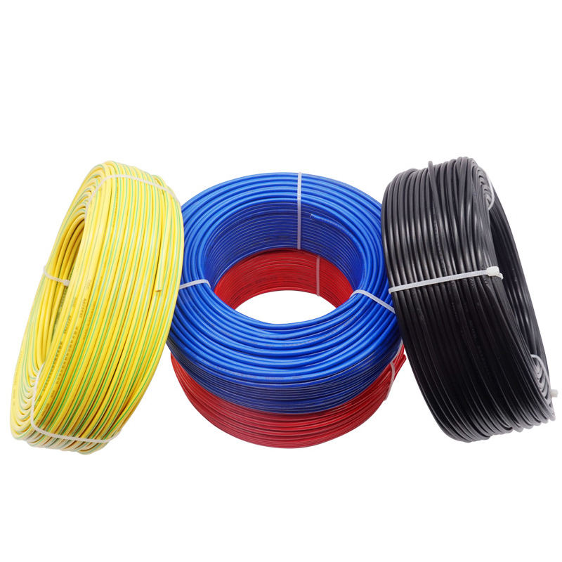 Hot 1.5mm 2.5mm 4mm 6mm 10mm single core copper pvc house wiring electrical cable and wire price building wire