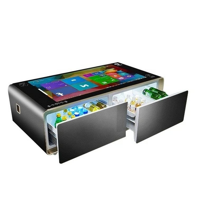 New design android system wireless charging smart touch screen coffee table