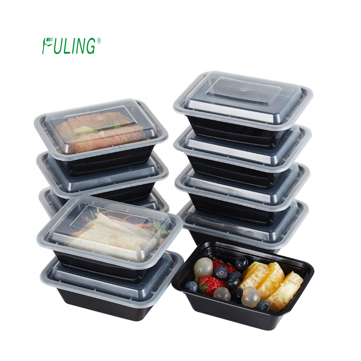 food safe quality microwave meal prep containers single 1 compartment reusable plastic lunch boxes with lids