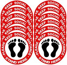 Removable Waterproof Keeping Social Distancing Warning Floor Sign Sticker