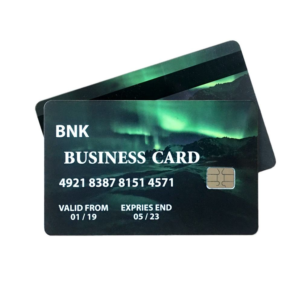 High security JCOP chip dual Interface J3H081 J3R150 Java Card with magnetic strip