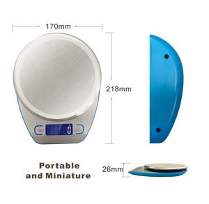 5kg Stainless Steel Digital Food Scale Kitchen Scale with Bowl