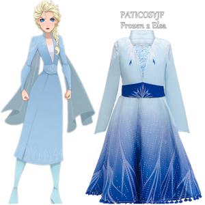 Girls Princess Costume Set Party Elsa Frozen Dress Princess Elsa 2 Movie Frozen 2 Dress