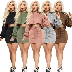 11436NA fashion solid crop hooded hoodie casual women clothi