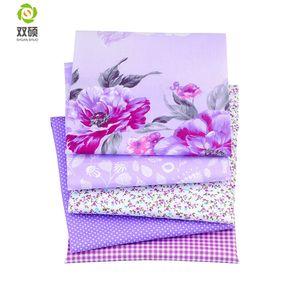 Série violette Bundle Patchwork Coton Tissu Gros Patchwork Tissus de Couture vêtements De Poupée Tilda Couette Tissu
