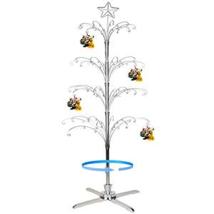 Christmas Tree Luxury Rotating Wrought Iron Display Stand Metal Ornament