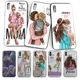 Princess Black Brown Hair Baby Mom Girl Queen Phone Case for Apple iPhone Case 7 8 6 6S Plus 5 5S SE X XS MAX 11