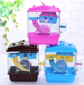Manufacturer wholesale custom acrylic luxury foldable carrier portable castle hamster cage
