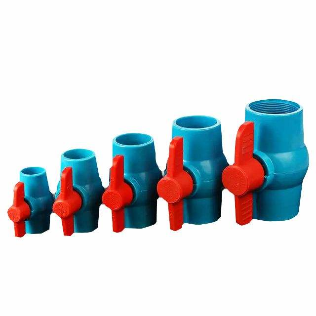 Custom Size Pvc Pp Safety Material Ball Valve Water Valve High Quality Irrigation Big Mini Valve
