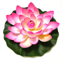 Amazon best selling 10cm 17cm 28cm EVA fake floating water artifical foam lotus flowers