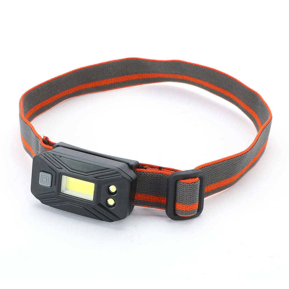 Power battery adjustable head USB rechargeable LED lighting headlamp for camping